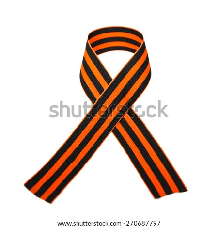 st george ribbon. victory day, may 9 - stock photo