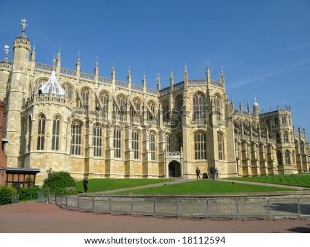 St George's Chapel in Windsor Castle,London - stock photo