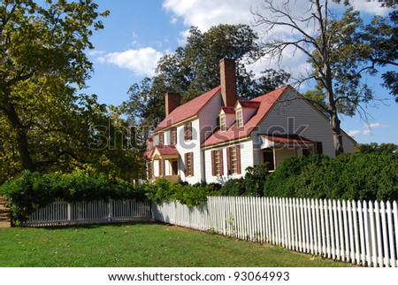 St. George Tucker House - Colonial Williamsburg, VA - stock photo