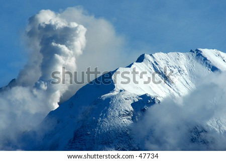 St. Helens eruption - stock photo
