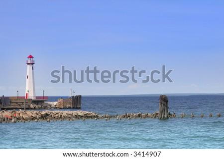 St Ignace light house - stock photo