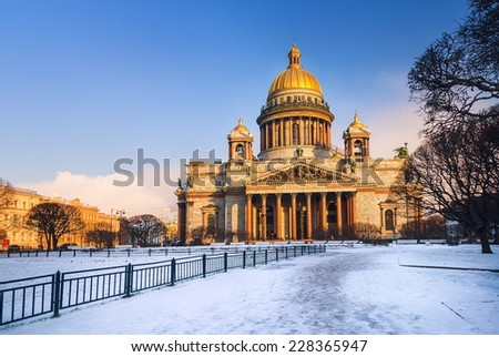 St Isaacs Cathedral, St Petersburg, Russia - stock photo