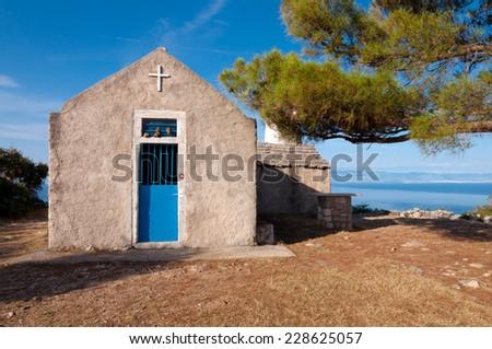 St Ivan church at Losinj island in Croatia - stock photo