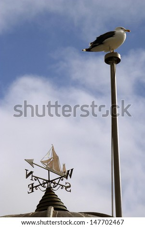 St Ives lighthouse - stock photo