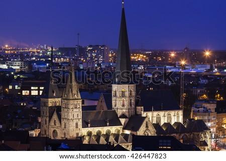 St. James Church in Ghent. Ghent, Flemish Region, Belgium. - stock photo