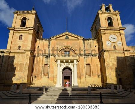 St.John Co-cathedral,Valletta,Malta - stock photo