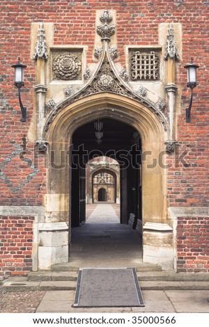 St.John?s College in Cambridge University, England - stock photo