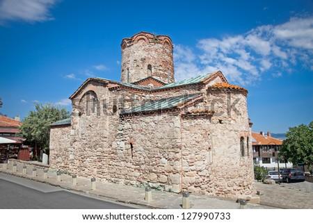 St. John The Baptist church in Nesebar old town, Bulgaria. Dated back 10th century. - stock photo
