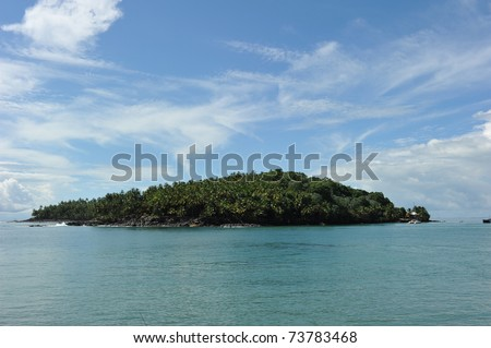 St Joseph island, one of the three salvation island off the coast of French Guiana. During the period when the islands were used as a penal colony, the island was reserved for solitary confinement. - stock photo