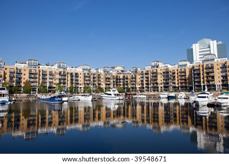 St Katherine's Dock, London - stock photo