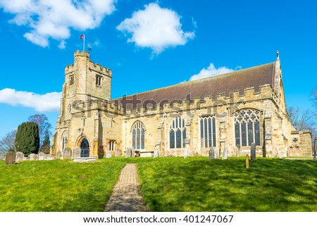 St Laurence Church in the village of Hawkhurst, Kent,UK. - stock photo