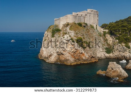 St. Lawrence Fortress in Dubrovnik, Croatia - stock photo