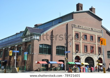 St Lawrence Market in Toronto, Canada - stock photo
