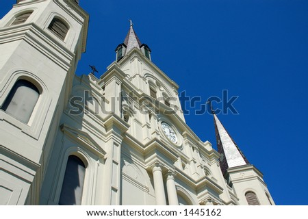 St Louis Cathedral, New Orleans 2006 - stock photo