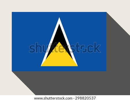 St Lucia flag in flat web design style. - stock photo
