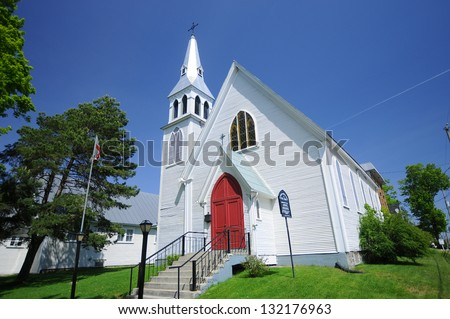 St Luke Anglican Church is a private company categorized under Churches and located in Magog, QC, Canada. - stock photo