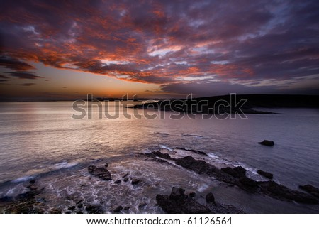 St. Marina island (Santander,Spain) - stock photo