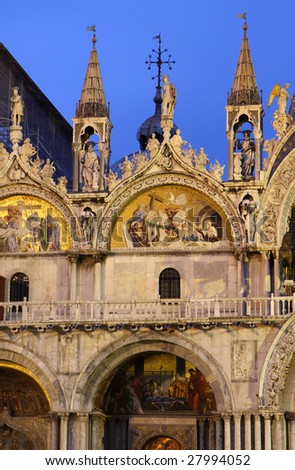 St Marks cathedral in Venice in Italy - stock photo