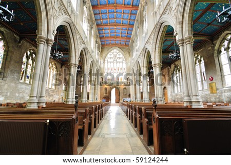 St. Mary's Cathedral in Beverly, England. - stock photo