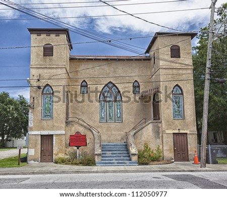 St. Mary's Missionary Baptist Church.  St. Augustine, FL, USA. - stock photo