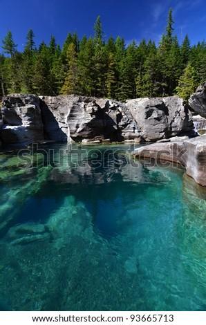 St Mary's River, Glacier National Park - stock photo