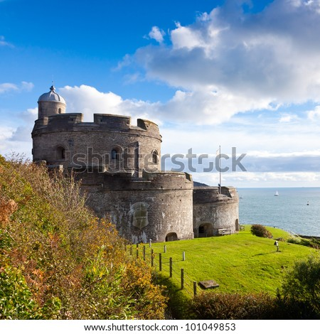 St Mawes Castle built during the reign of King Henry the VIII. Cornwall England UK - stock photo