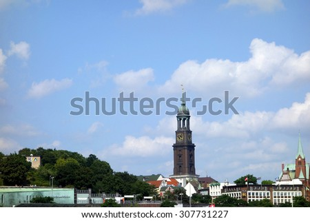 St. Michael's Church, hamburg - stock photo