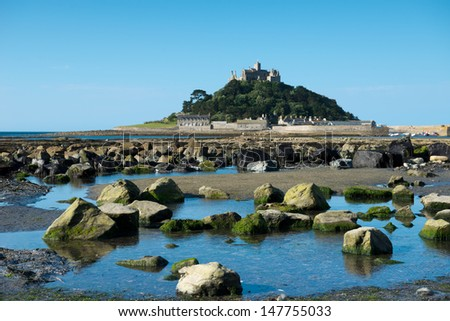 St Michael's Mount, Cornwall, UK - stock photo
