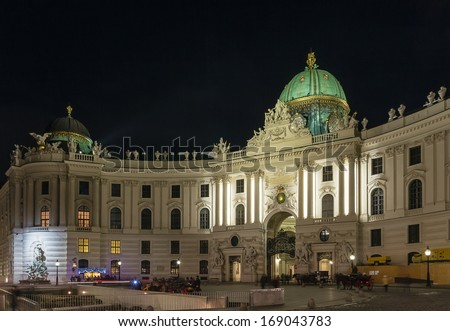St. Michael's Wing of Hofburg Palace, Vienna - stock photo
