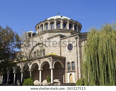 St Nedelya Church (Holy Sunday Church) in Sofia, Bulgaria - stock photo