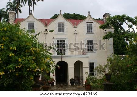 St. Nichols Abbey, Barbados - stock photo