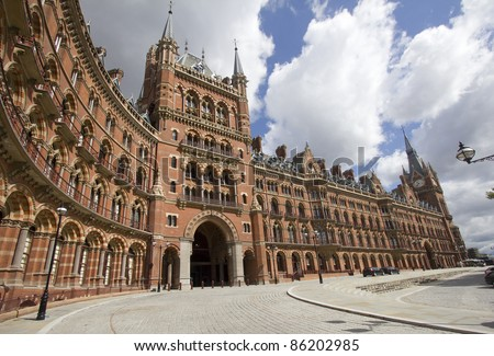 St. Pancras station in London, UK - stock photo