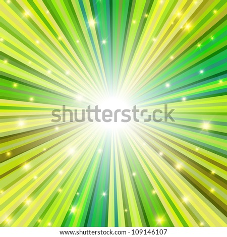 St. Patrick holiday themed background. Raster version, vector file available in portfolio - stock photo