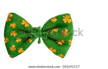 St Patrick's day fun bow tie - stock photo