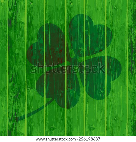 St. Patrick`s Day Handmade Watercolor Banner set. - stock photo