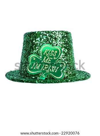 St. Patrick's day hat isolated - stock photo