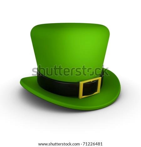 St Patrick's day, hat side - stock photo