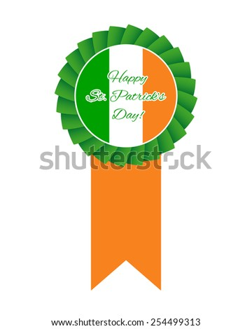 St Patrick's day rosette. Vector available. - stock photo