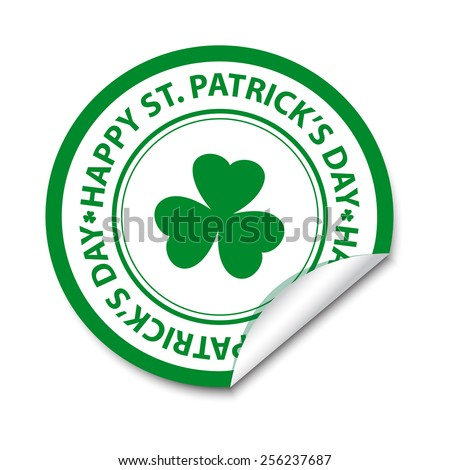St Patrick's day sticker. Vector available. - stock photo