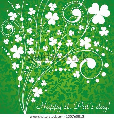 St. Patrick's greeting card. Illustration - stock photo