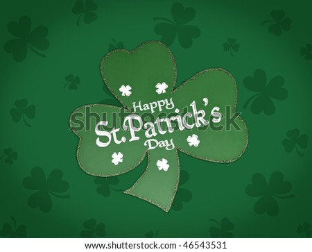 st. patrick shamrock - stock photo