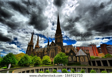 st patricks cathedral - stock photo