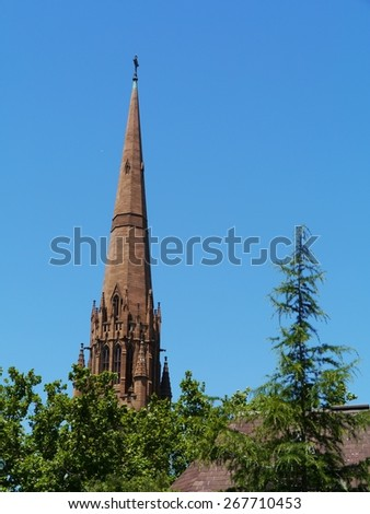 St Patricks Cathedral is the cathedral church of the Roman Catholic Archdiocese of Melbourne in Victoria in Australia - stock photo