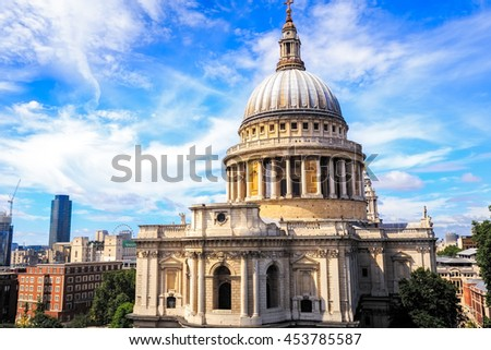 St Paul Cathedral in London. - stock photo