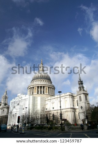 St. Paul Cathedral, London, UK - stock photo