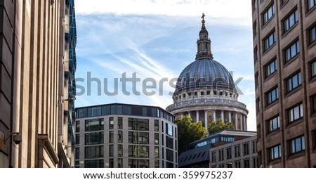 St Paul Cathedral on a nice day - stock photo