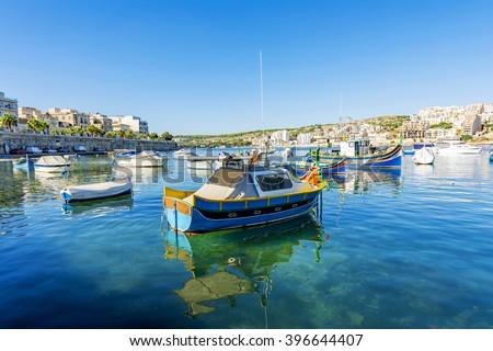St Paul's Bay in Malta - stock photo
