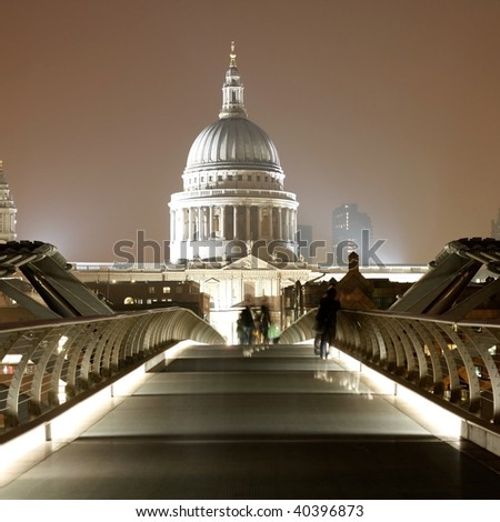 St. Paul's Cathedral in London - stock photo
