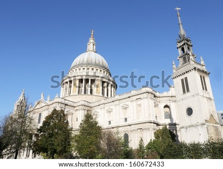 St Paul's Cathedral, London, England. - stock photo
