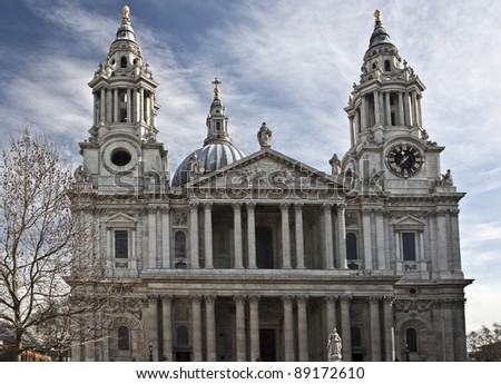 St. Paul's Cathedral - North Entrance - stock photo